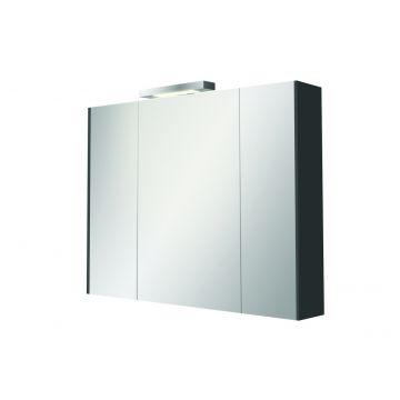 Sub 440 spiegelkast 80x61,7 cm, hoogglans antraciet