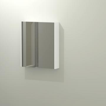 Sub 404 spiegelkast 60x70 cm, hoogglans wit
