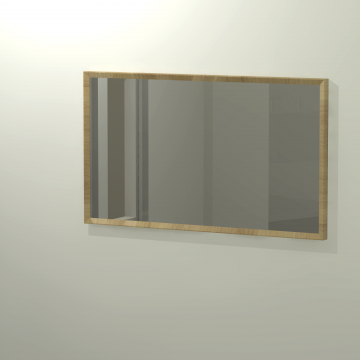 Sub 416 spiegel 120x70 cm, eiken naturel