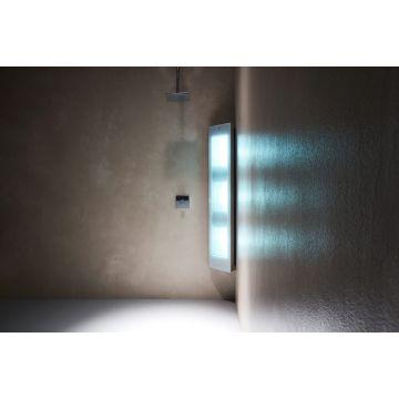 Sunshower Combi full body hoekopbouwmodel UV en infrarood 145x30x20 cm, wit