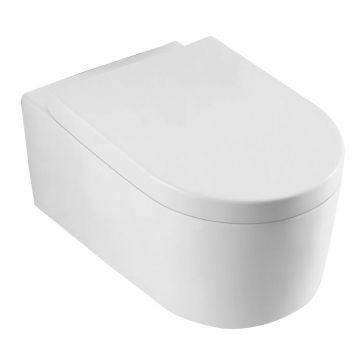 Wiesbaden Arco hangend toilet diepspoel met softclose zitting, wit