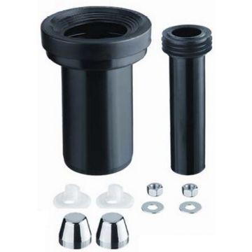 Riko Parts hangend toilet aansluitset 9-11 18 cm, chroom zwart