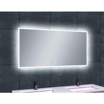 Wiesbaden Quatro-LED spiegel met dimbare LED-verlichting en spiegelverwarming 120x60 cm