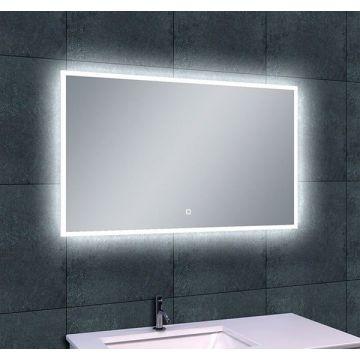 Wiesbaden Quatro-LED spiegel met dimbare LED-verlichting en spiegelverwarming 100x60 cm