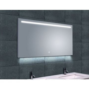 Wiesbaden Ambi One spiegel 120x60 cm met dimbare LED-verlichting en spiegelverwarming