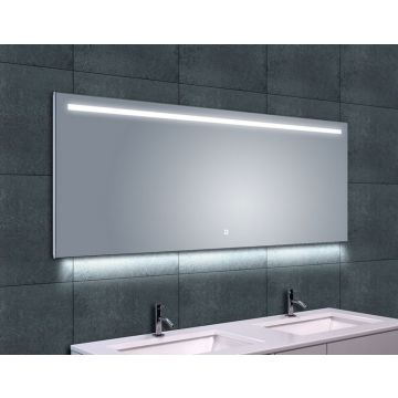 Wiesbaden Ambi One spiegel 160x60 cm met dimbare LED-verlichting en spiegelverwarming