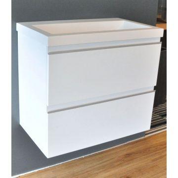 Wiesbaden wastafelonderkast met 2 laden zonder wastafel 60x36 cm, wit