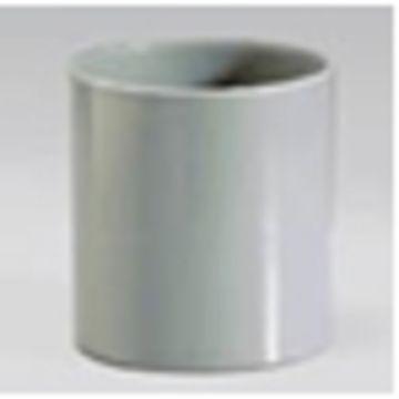 Sub PVC dubbele mof 50 mm