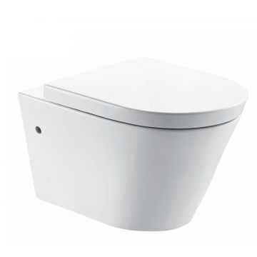 Sub Flow hangend toilet diepspoel rimless NANO EasyCleaning met toiletzitting softclose en quickrelease, wit