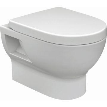 Wiesbaden Mercurius hangend toilet diepspoel met softclose zitting, wit