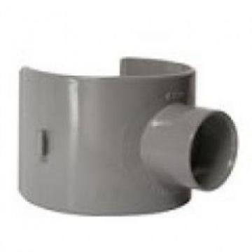 Sub PVC rioolklemzadels 125 / 110 / 100 x 50, grijs