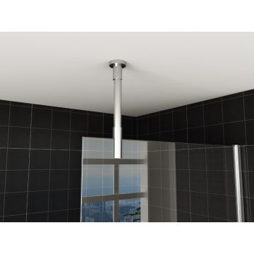 Wiesbaden stabilisatiestang plafondbevestiging rond 100 cm inkortbaar, chroom