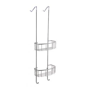 Wiesbaden Domo ophangrek 80 cm, tbv glazen wand, chroom