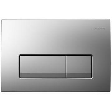Geberit Delta51 bedieningspaneel 24,5 x 16,4 x 2,6 cm, mat-chroom