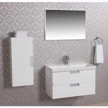 Wiesbaden 2 meubel 80 +ker.wast.+spiegel + kast wit