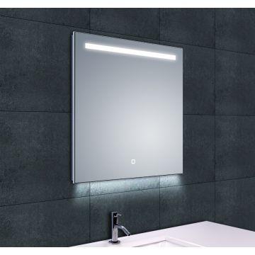 Wiesbaden Ambi One spiegel 60x60 cm met dimbare LED-verlichting en spiegelverwarming