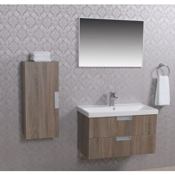 Wiesbaden 2 meubel 80 +ker.wast.+spiegel + kast eiken