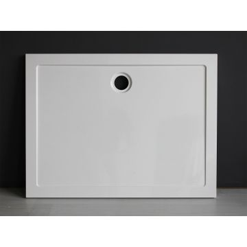 Wiesbaden Luxe rechthoek inbouwdouchebak 120x90x4 cm, wit