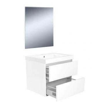Wiesbaden Vision meubelset met spiegel 60 cm, wit