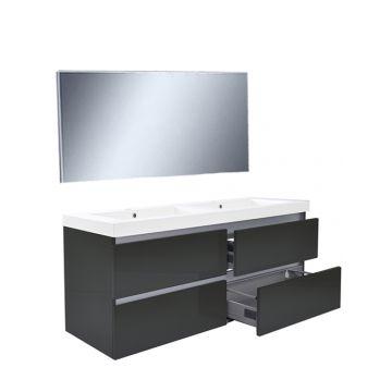 Wiesbaden Vision meubelset met spiegel 120 cm, hoogglans grijs
