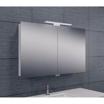 Wiesbaden Luxe spiegelkast met LED-verlichting 60 x 100 x 14 cm, aluminium