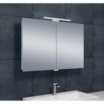 Wiesbaden Luxe spiegelkast met LED-verlichting 60 x 90 x 14 cm, aluminium