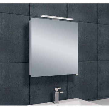 Wiesbaden Luxe spiegelkast met LED-verlichting 60 x 60 x 14 cm, aluminium