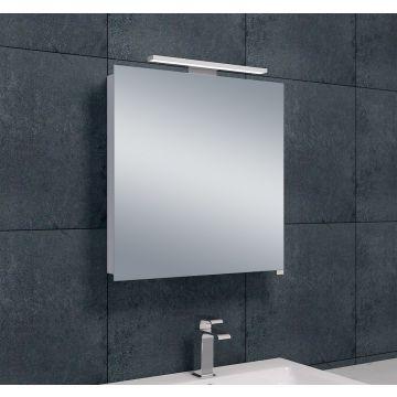 Wiesbaden Luxe spiegelkast 60x60x14 cm met LED-verlichting, aluminium