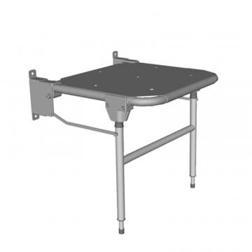 Linido hulppootset voor verkorte douchezitting met zithoogte 44-59 cm, staal gecoat wit