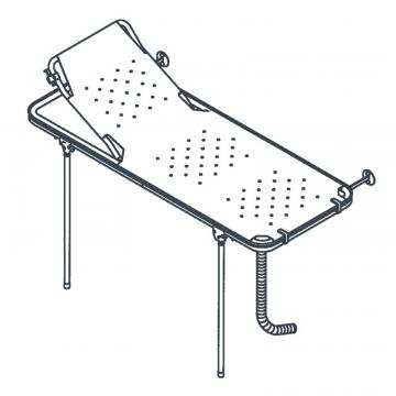 Linido doucheraam met verstelbare rugsteun, opvangbak en flexibele afvoerslang 150 cm, staal gecoat wit