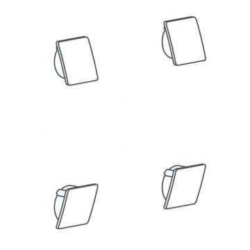 Linido schroefkapset voor opklapbare toiletbeugel, wit
