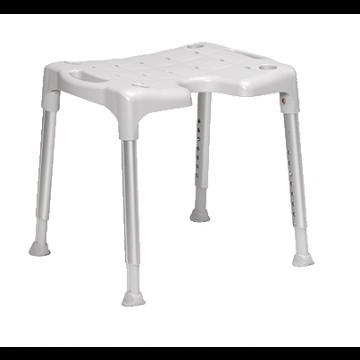 Etac Swift douche-/toiletstoel 57 cm excl arm- en rugleuning 57 cm, grijs