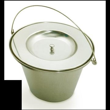 Linido toiletemmer incl. deksel, rvs gepolijst