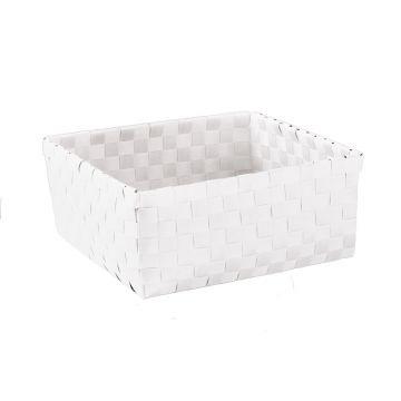 Kleine Wolke Brava opbergbox L 23x23x10,5 cm, wit