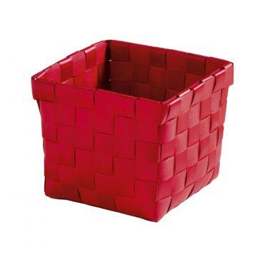Kleine Wolke Brava opbergbox S 11,5x11,5x10 cm, heiderood