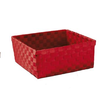 Kleine Wolke Brava opbergbox L 23x23x10,5 cm, heiderood