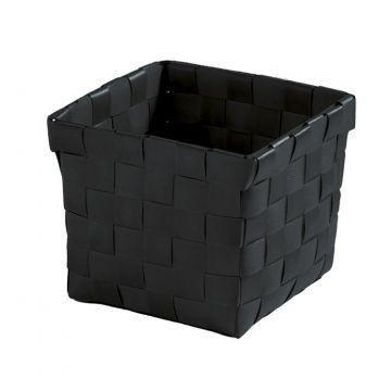 Kleine Wolke Brava opbergbox S 11,5x11,5x10 cm, zwart