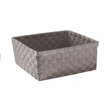 Kleine Wolke Brava opbergbox L 23x23x10,5 cm, platina
