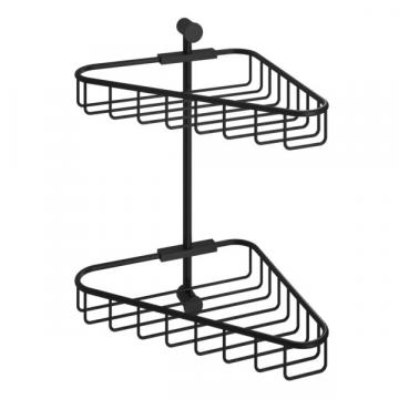 Hotbath Cobber dubbele hoekkorf 32,3 x 28 x 22,4 cm, mat zwart