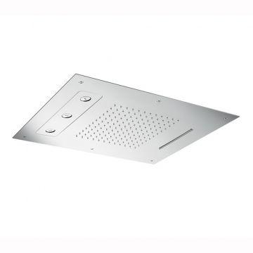 Hotbath Mate inbouw hoofddouche Triple 48x63 rechthoekig, chroom