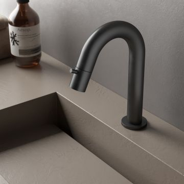 Hotbath Dude 1-hendel fonteinkraan, mat zwart