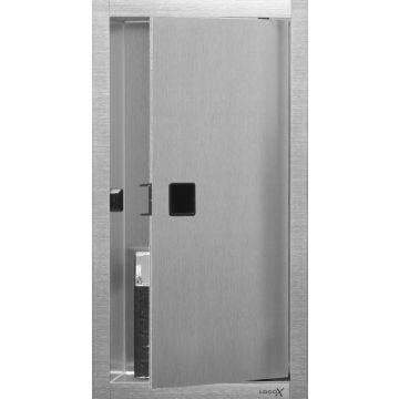 LoooX Box inbouwnis met deur 15x30x10 cm, rvs geborsteld