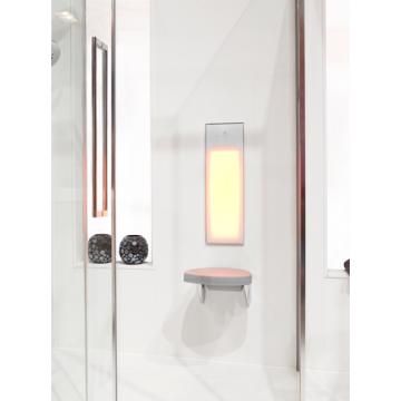 Sunshower Pure half body inbouwmodel infrarood 62x20x10 cm, wit