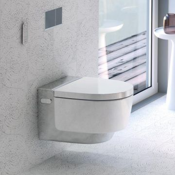 Geberit AquaClean Mera Classic douche wc met decorplaat, wit/chroom