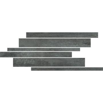 Floorgres Rawtech keramische decor-strip 21x40x1 cm, antraciet