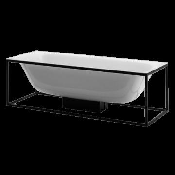 Bette Lux shape frame voor bad 170 cm, zwart