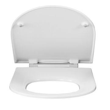 Pressalit Projecta D Solid Pro polygiene toiletzitting met deksel, wit