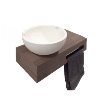 Sub fonteinkast met 1 sleuf, eiken grey wash