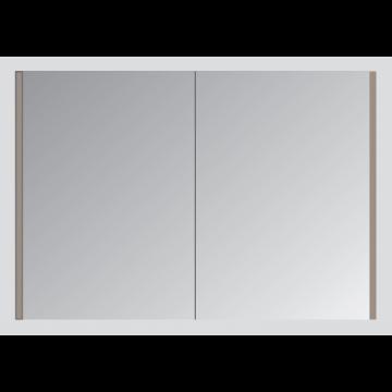 Sub spiegelkast met 2 deuren en binnenspiegel 120x60 cm, grijs