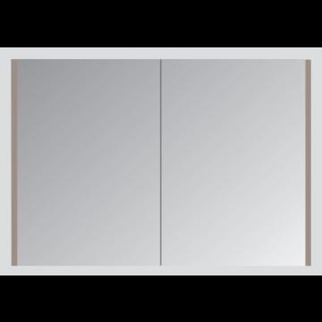 Sub spiegelkast met 1 deur en dubbelgespiegelde deur 60x60 cm
